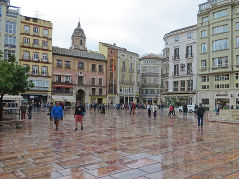 Constitution Square, Malaga Spain